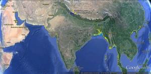 Indie - poglądowa mapa naszego trekkingu